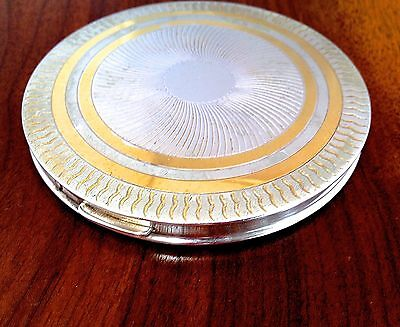 Rex Sterling Silver Compact or Card Case No Monogram