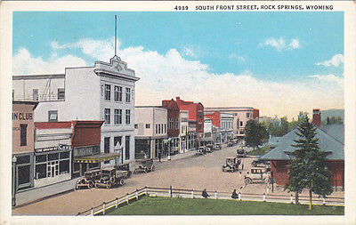 ROCK SPRINGS , Wyoming , 1910s ; South Front Street