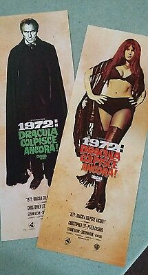 Hammer Horror Films Dracula Ad 1972 Character Poster Retro Christopher Lee