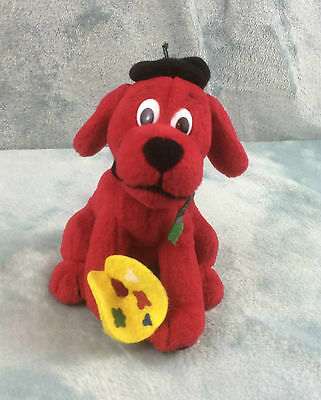 Clifford the Big Red Dog Artist Palette & Brush Soft Toy 5""