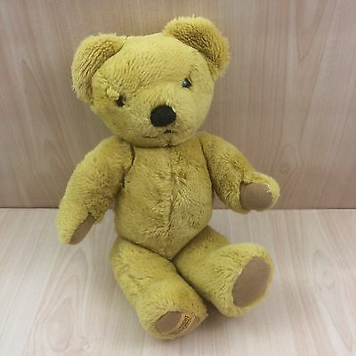 """Vintage Merrythought Brown Jointed Teddy Bear Soft Toy 13"""""""