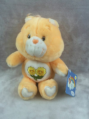 Care Bear Orange Friend Bear Vivid Imaginations 2002 with tag