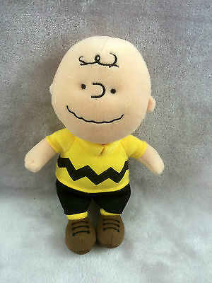 """Ty Charlie Brown Peanuts Soft Toy 7"""" with sound (2011)"""