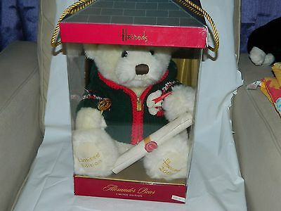 Harrods 2006 Bear Alexander Limited Edition 21St Anniversary With Certificate