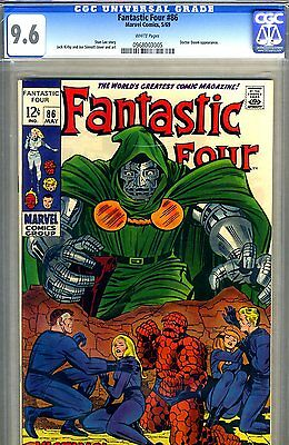 Fantastic Four #86  CGC GRADED 9.6 - second highest graded