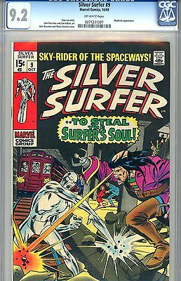 "Silver Surfer #9  CGC GRADED 9.2 - fourth highest graded - ""Mephisto"" appearance"