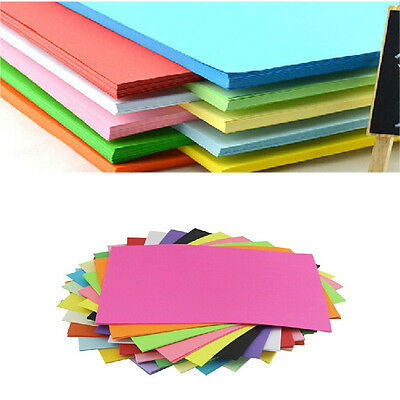 100 Sheets Double Sided Random Colored Paper Assorted Colors Origami A4 Square