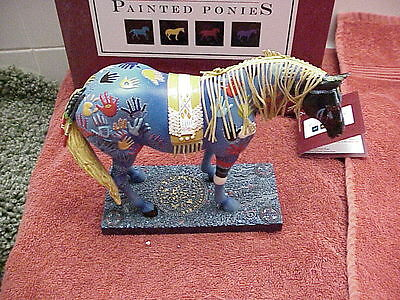 """The Trail Of Painted Ponies- """"BLUE MEDICINE"""" 6th Ed #9095 MIB/ Card-Resin"""