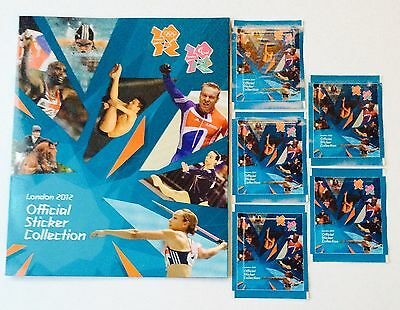 Panini London 2012 Olympics Empty Sticker Album and Five Packets