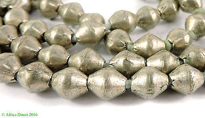 Ethiopian Beads Bicone Silver Africa 35 Inch SALE WAS $24.95