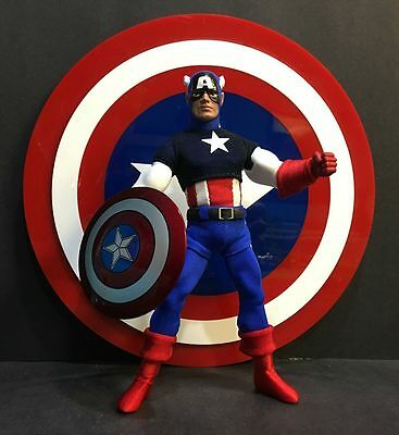 """Custom Metal 8"""" Mego Captain America Shield - Shield Only! Free Shipping"""