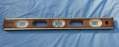 Stanley 24 Inch Wood & Brass Vintage Level  Model 42-321 Made in USA