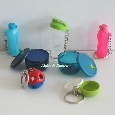 Tupperware 7 Assorted Key Chains & Magnets FREE SHIP Miniature Collectible Set