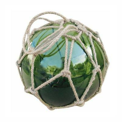 g4398 : Filet de pêche bille, boule Fischer en verre filet, vert Ø 17,5 cm