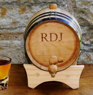 Personalized Mini-Oak Whiskey Barrel Engraved Mini Wine Barrel Cask 2 Liter Oak