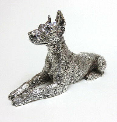 "Vintage Sterling Silver 925 Doberman Pinscher Dog Figurine ~ 7"" Long ~ 251 grams"