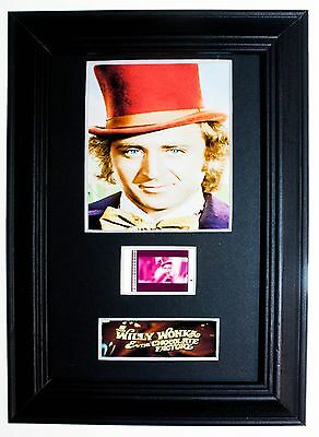 Willy Wonka - 6x4 Framed movie film cell display, Nice Gift