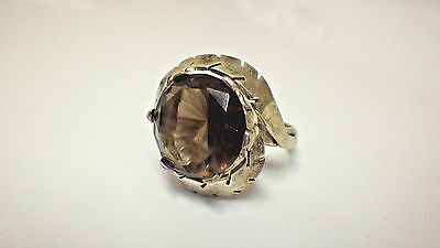 Vintage Taxco Mexico Smokey Quartz Ring Sterling Silver Found in Forgotten Safe