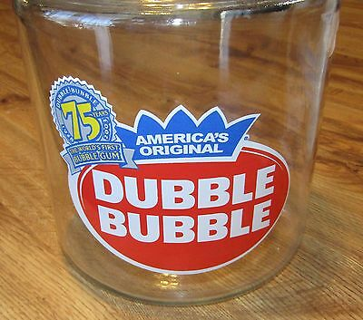 Double Bubble Large Glass Jar 75th Anniversary
