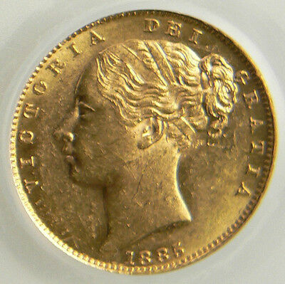 1885 M GEF Queen Victoria Gold Sovereign CGS 65  ☆☆☆ CGS 2nd Finest Graded ☆☆☆