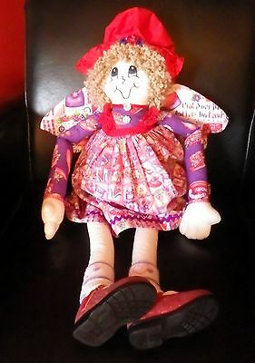 Red Hat Lady Doll 30'' tall Excellent Condition Red Hat Society