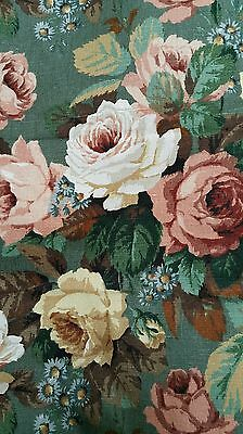 Vintage Heavyweight Linen Fabric From Sanderson * 3.46 Mts Rare 19 Mts Available