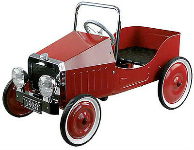 Red Kids Pedal Car 1938 Vintage Style Childs Ride On Car Outdoor Toys Car Toys
