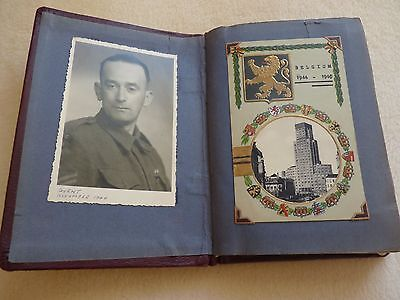 VINTAGE BELGIUM POSTCARDS in ALBUM dated 1946 - 71 postcards - VGC for their age