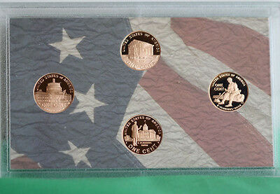 2009 S PROOF Lincoln Bicentennial One Cent Four Coin Set US Mint NO BOX