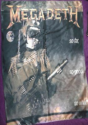 MEGADETH So Far So Good So What FLAG CLOTH POSTER WALL TAPESTRY BANNER CD Thrash
