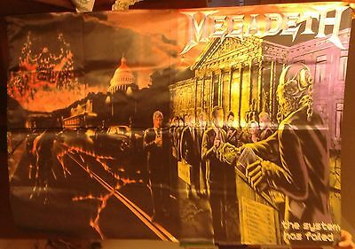 MEGADETH The System has Failed FLAG CLOTH POSTER WALL TAPESTRY BANNER CD Thrash