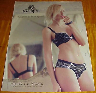 b.tempt'd By Wacoal Lingerie Ad Shapely Girl in Bra & Panties Macy's #091216