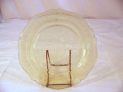 Amber Depression Glass Plate -Patrician Spoke