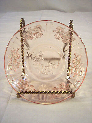 Sharon Pink Pattern Federal Glass Fruit Bowl #1