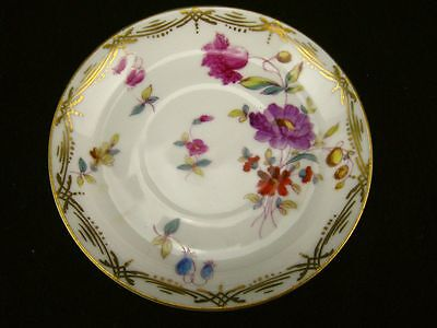 Mark & Gutherz Carlsbad saucer with multi-colored flowers #1874