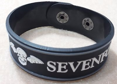 New Avenged Sevenfold Rubber Bracelet Wristband Unisex White Souvenirs Day Wb39