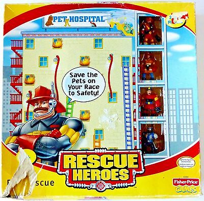 Rescue Heroes Fisher Price Mattel Pet Hospital Rescue Game Complete Pre-owned