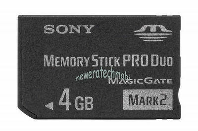 Brand New 4GB Memory Stick Pro Duo MS Card for Sony Digital Camera PSP Camcorder