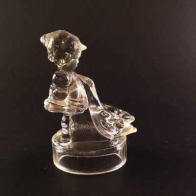 Vintage Glass Candy Container Girl with Geese