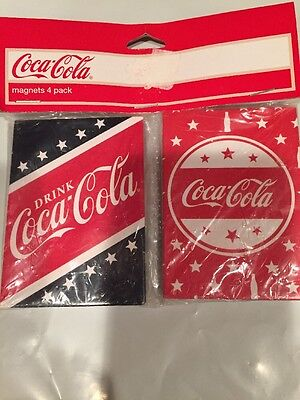 Coca-Cola Set Of Four Magnets New