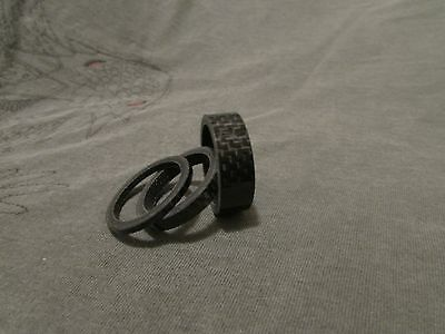 Wheels Manufacturing Carbon Fiber 1 Inch Headset Spacers 2.5mm/5mm/10mm