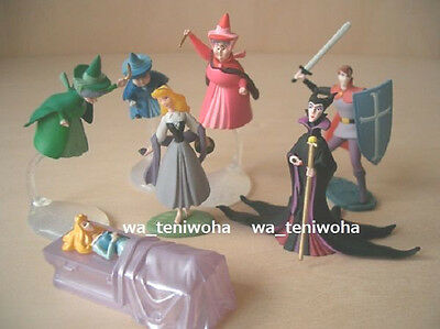 "New Set ""Sleeping Beauty"" Tiny 6 Figures + Secret Disney Choco Egg KAIYODO"