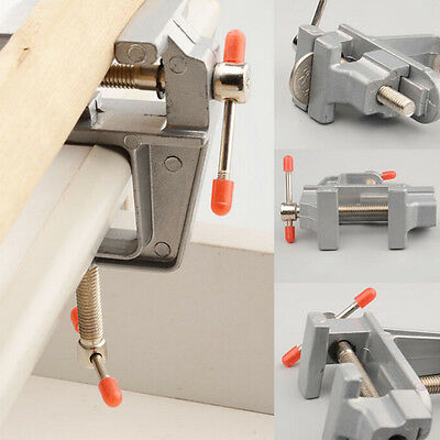 """New 3.5"""" Aluminum Mini Small Jewelers Hobby Clamp On Table Bench Vise Tool NB"""