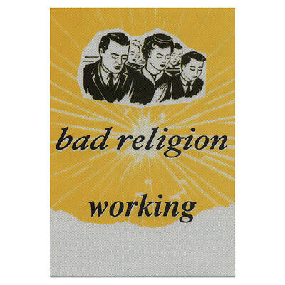Bad Religion authentic Working * tour Backstage Pass