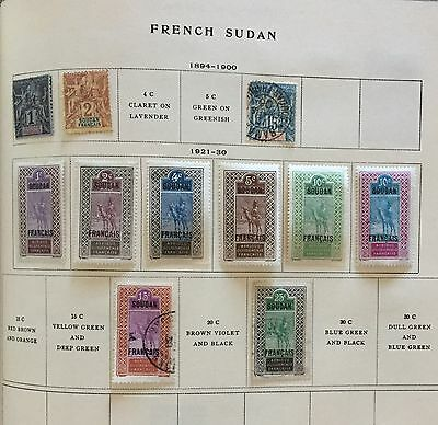 French Sudan 1894/930 Lot Of 11 Stamps Mlh* & Used Spl