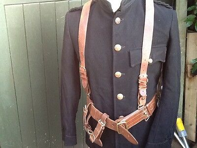 WW1 Leather Sam Browne  cross over strap,,BELT ONLY!!