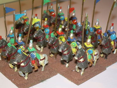 25mm Painted Metal Ancient Byzantine Heavy Cavalry (15 figures)