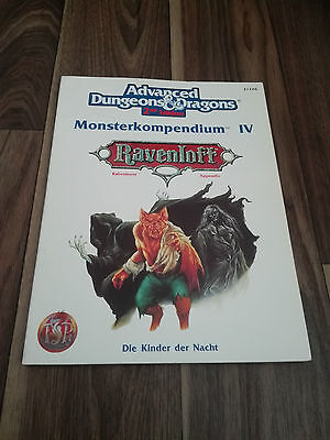 AD&D 2nd EDITION DUNGEONS&DRAGONS MONSTERKOMPENDIUM IV 4 SEHR GUT RAVENLOFT
