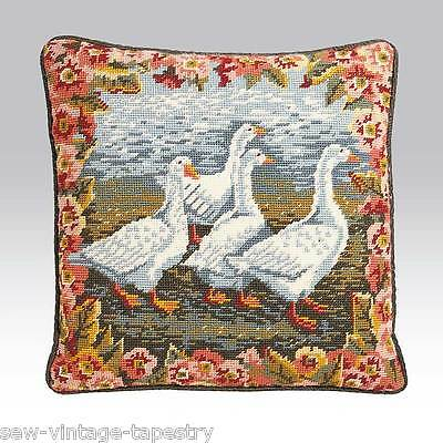 EHRMAN 1990 'GEESE'  NEEDLEPOINT TAPESTRY KIT by ANN BLOCKLEY - VINTAGE
