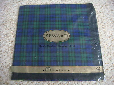 BNIP SEWARD Blackwatch Tartan Pure Cotton Handkerchief